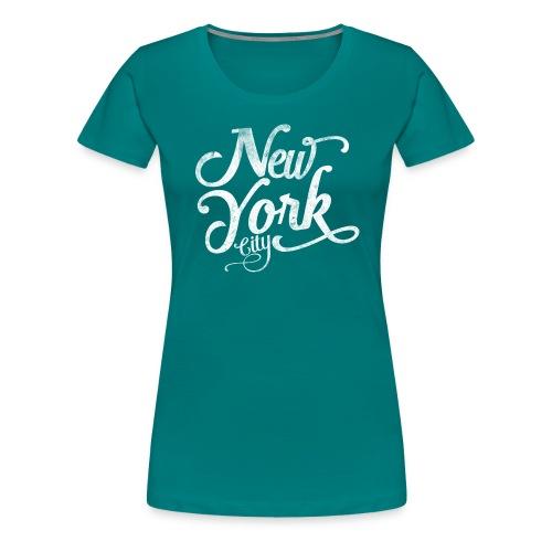 New York City typography - Women's Premium T-Shirt