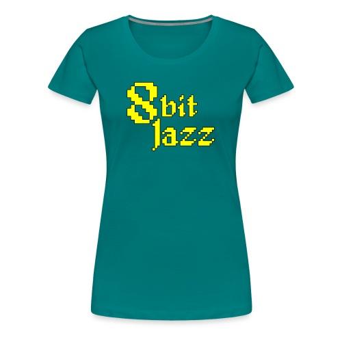 8 Bit Jazz Logo - Yellow - Women's Premium T-Shirt