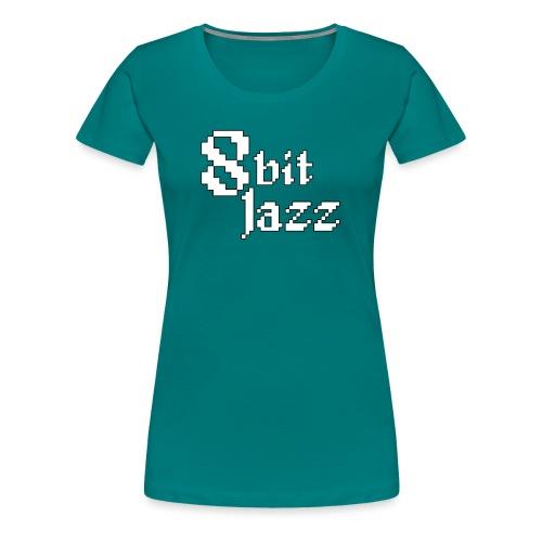 8 Bit Jazz Logo - White - Women's Premium T-Shirt