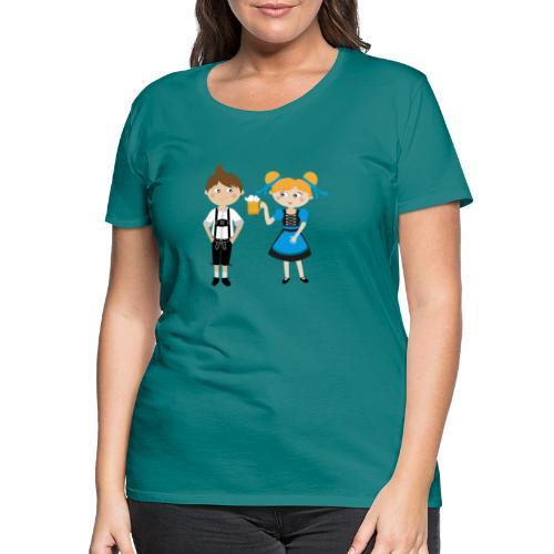 Dirndl, Bier und Lederhosen - Frauen Premium T-Shirt