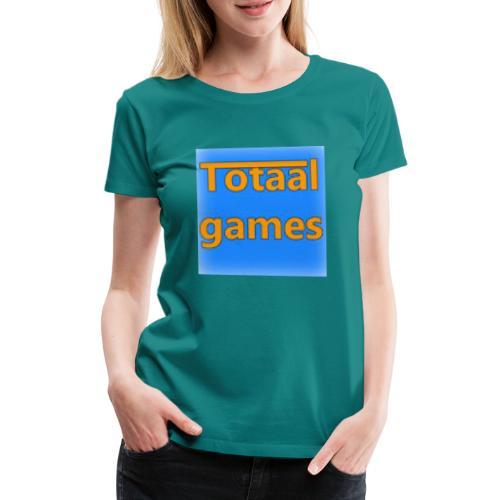 Totaal Games Blauw - Vrouwen Premium T-shirt
