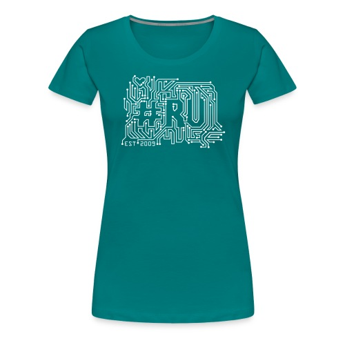 #RU - circuit board - Vrouwen Premium T-shirt