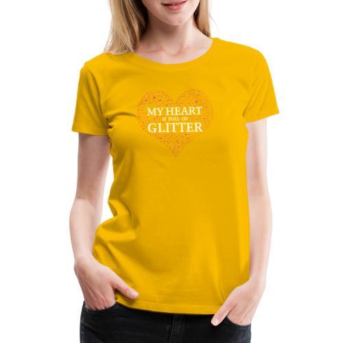 Herz Glitzer - Frauen Premium T-Shirt