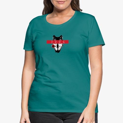 Wolf and Rose F00G - Camiseta premium mujer