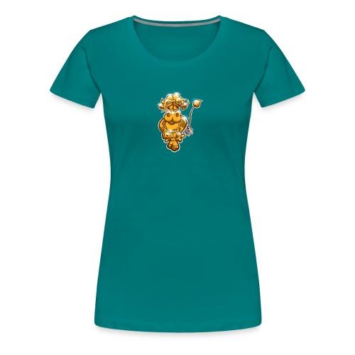 Goldene Gangster Kuh / Gold Thug Cow - Frauen Premium T-Shirt