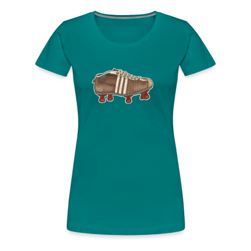 Vintage Fussbalschuhe / Soccer Shoes - Frauen Premium T-Shirt