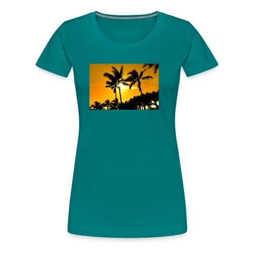 pam trees - Premium-T-shirt dam