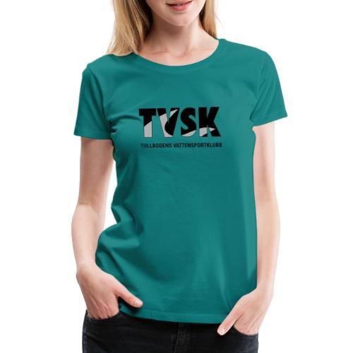 tvsk svartvit logo - Premium-T-shirt dam