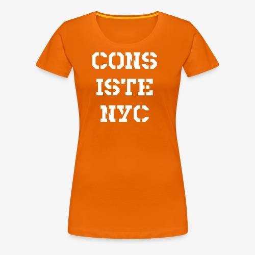 Consistency - weiß - Frauen Premium T-Shirt