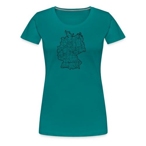 Liniertes Deutschland - Frauen Premium T-Shirt