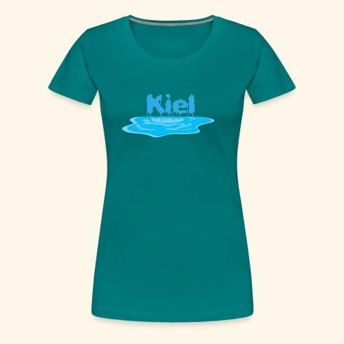Kiel Tropfend Design Wasser Schrift - Frauen Premium T-Shirt