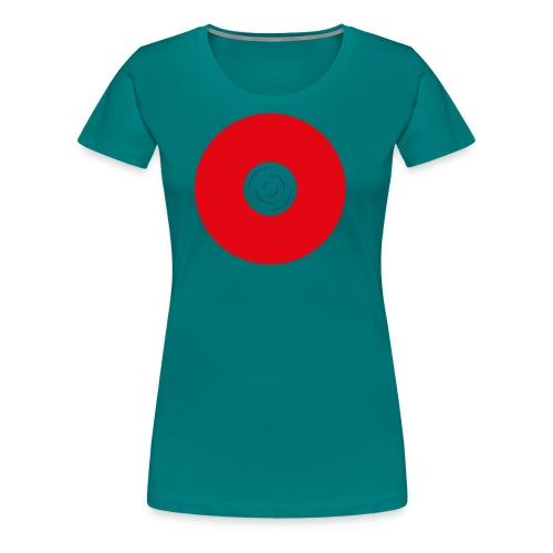 Unbenannt 222 - Roter Kreis mit Mitte - Frauen Premium T-Shirt