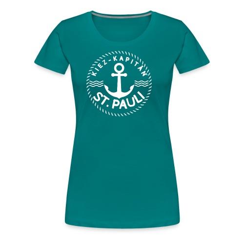 Kiez-Kapitän© St. Pauli Logo Gross - Frauen Premium T-Shirt