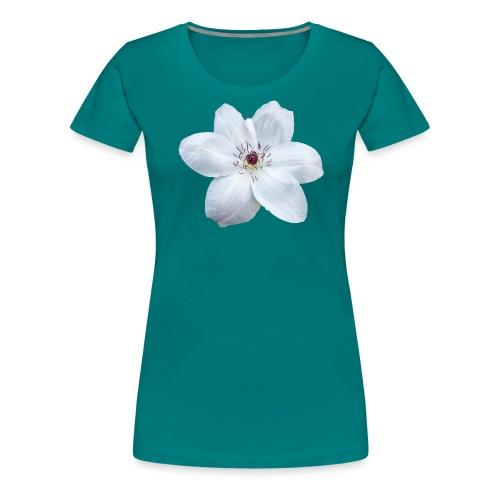 Jalokärhö, valkoinen - Naisten premium t-paita