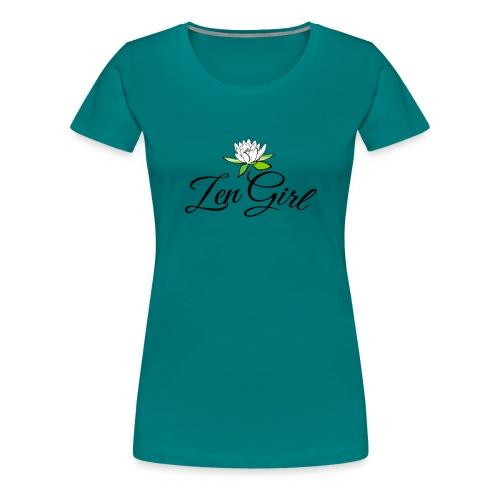 zengirl with lotusflower for purity in life - Premium-T-shirt dam