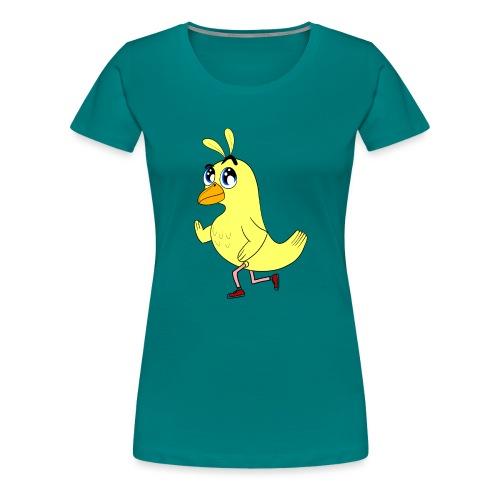 Pollito corredor con zapatillas deportivas - Camiseta premium mujer