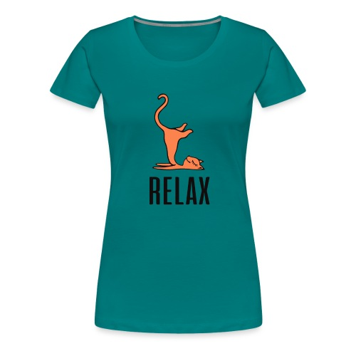 Relax Cat - Frauen Premium T-Shirt