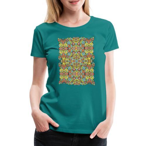 Weird creatures multiplying infinitely - Women's Premium T-Shirt