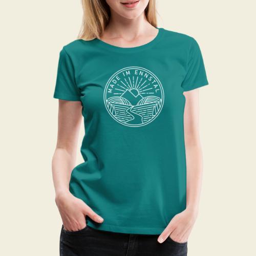 Made im Ennstal, weiß - Frauen Premium T-Shirt