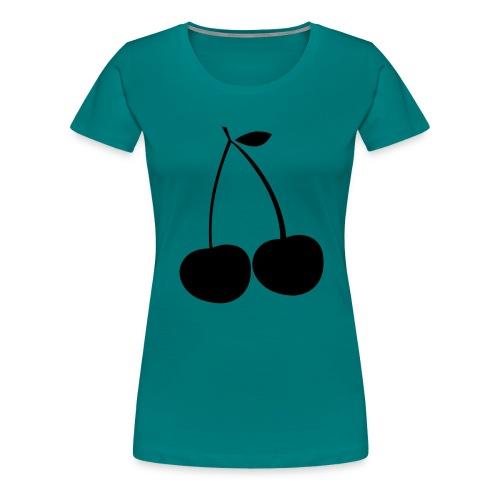 cerise Cherie Cherry fruit rouge Kirsche cereza - T-shirt Premium Femme