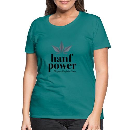 Hanf Power Logo - Frauen Premium T-Shirt
