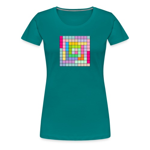 CUADRICULA4 - Camiseta premium mujer