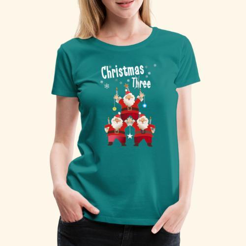 Christmas Three Weihnacht Baum drei - Frauen Premium T-Shirt
