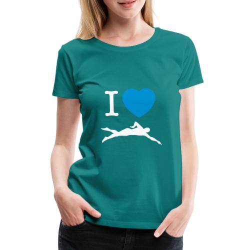 I love swimming - Maglietta Premium da donna