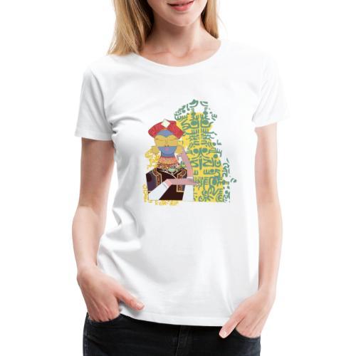 G'sab - Arabic Calligraphy Portrait - Women's Premium T-Shirt