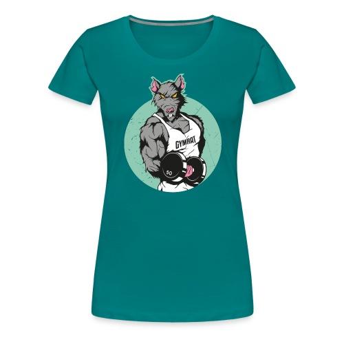 GYM RAT old Ed. - Frauen Premium T-Shirt