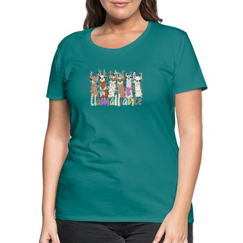 Coole Llamas Kinder und Erwachsene T-Shirt - Frauen Premium T-Shirt