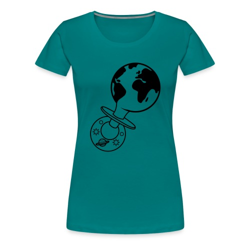 world pacifier - Vrouwen Premium T-shirt