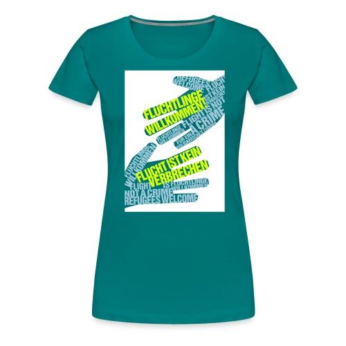 Flüchtlinge Willkommen w - Frauen Premium T-Shirt
