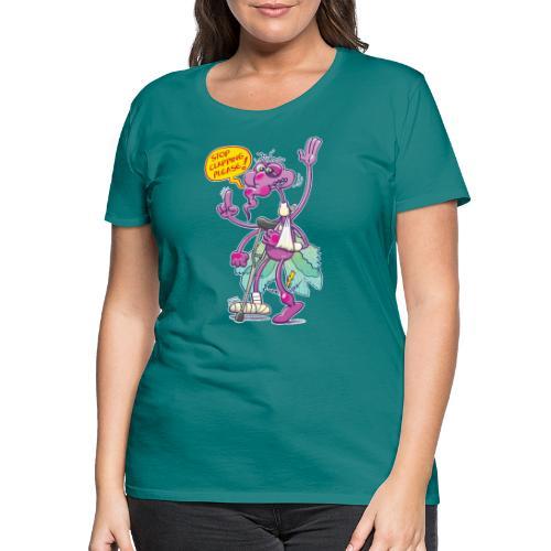 Moustique supplie de stopper les applaudissements - Women's Premium T-Shirt