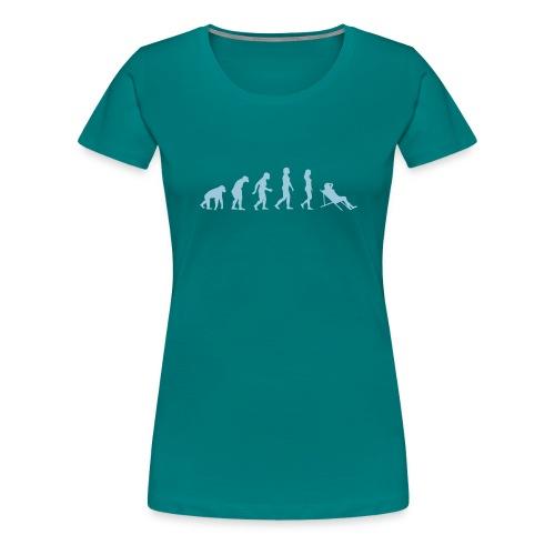 Evolution Urlauberin - Frauen Premium T-Shirt