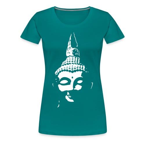 Boeddha hoofd diapositief - Vrouwen Premium T-shirt