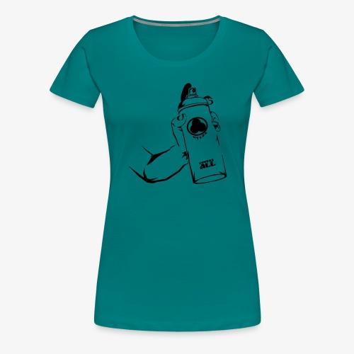 writers can spray - Frauen Premium T-Shirt