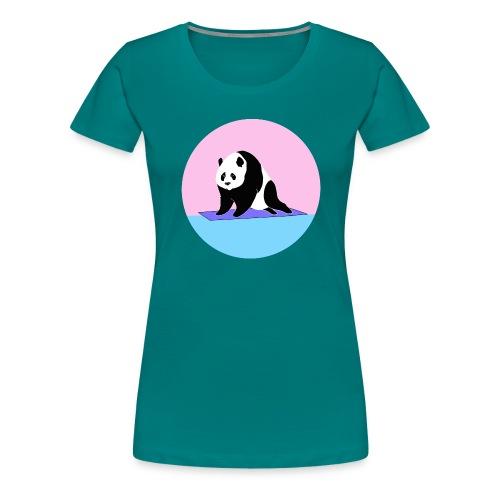Yoga panda downward dog namaste - Women's Premium T-Shirt