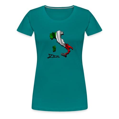 Italien-Landumriss mit Flagge - Frauen Premium T-Shirt