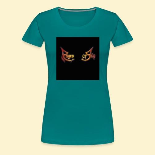 Logo flipflops - Vrouwen Premium T-shirt