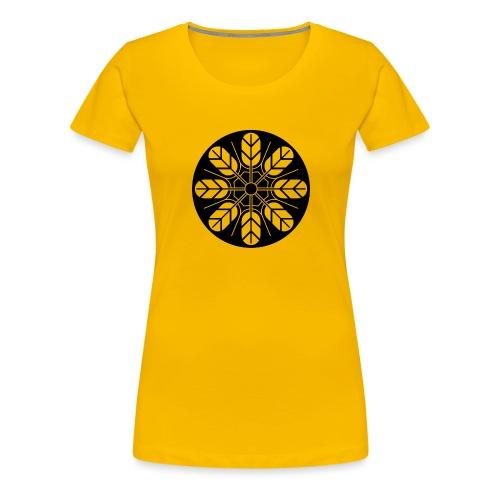 Inoue clan kamon in black - Women's Premium T-Shirt