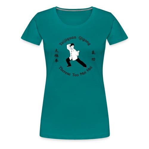 Teo Mei Mei Black Logo - Premium-T-shirt dam