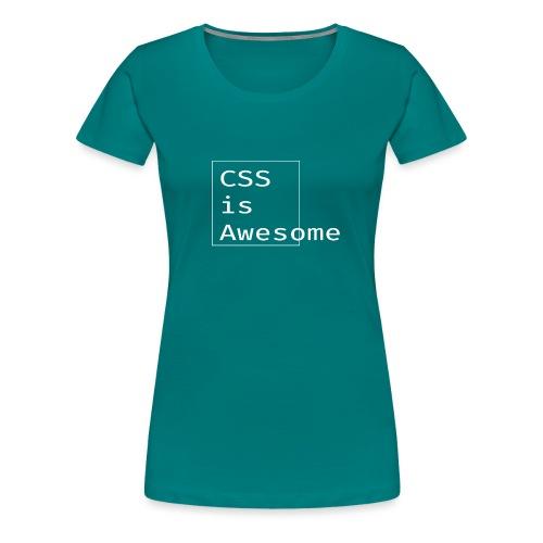 cssawesome - white - Vrouwen Premium T-shirt