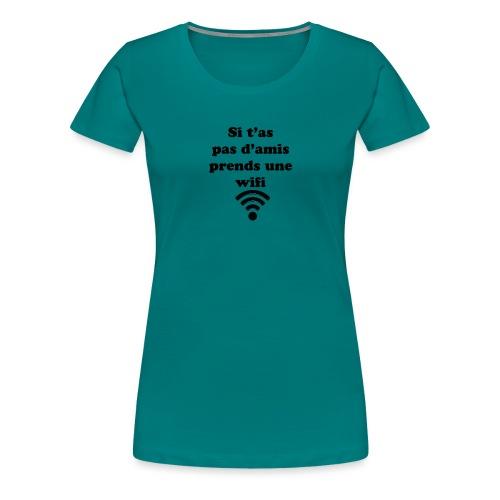 wifi - T-shirt Premium Femme