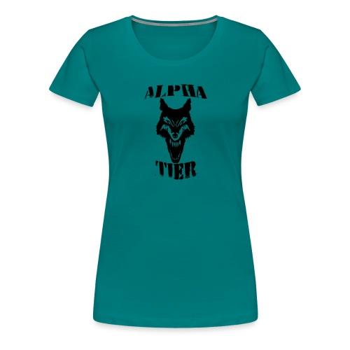 T- Shirt Alpha Tier - Frauen Premium T-Shirt