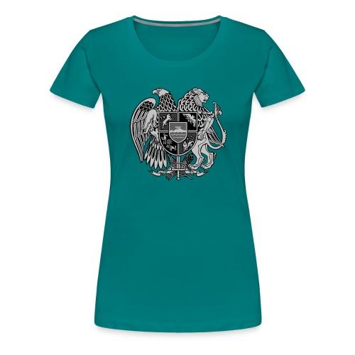 Szary herb Ormiański duży - Koszulka damska Premium