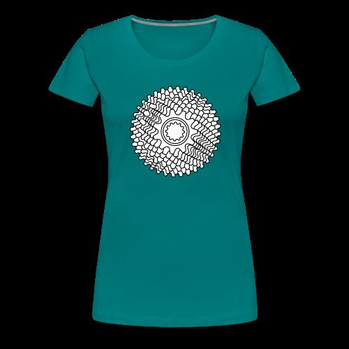 Mountainbike Rennrad Fahrrad Schaltkassette - Frauen Premium T-Shirt