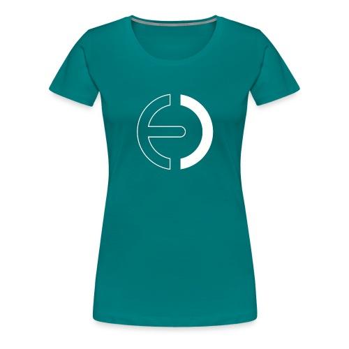 logo white only - Women's Premium T-Shirt