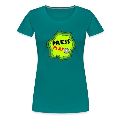 Press Play slime - Women's Premium T-Shirt