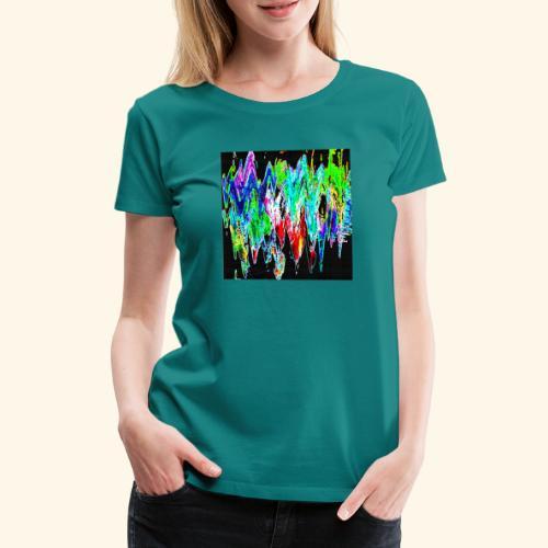 Colori ondulati base nero - Maglietta Premium da donna
